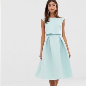ASOS Design Foldback CropTop Dress